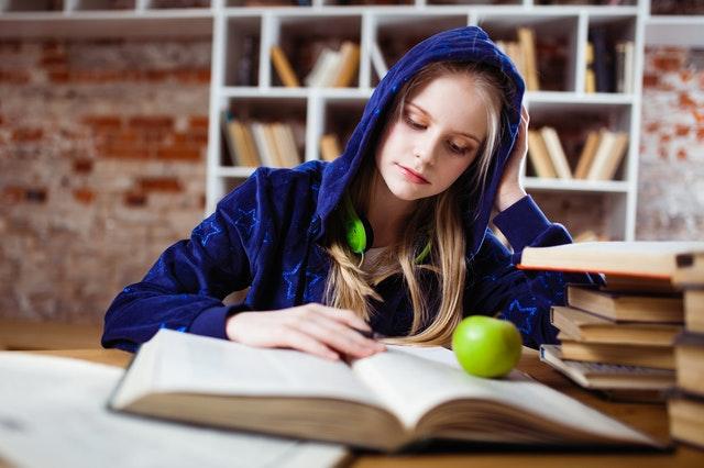 סטודנטית מחפשת מידע על עבודת סמינריון